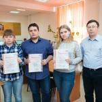 На фото: Сергеева А., Хуманен А., Истошина А., Карасев А.