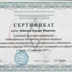 Сертификат Забневой Э.И